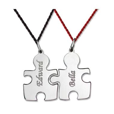 Pendentif puzzle duo personnalisé