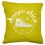Coussin personnalisé jaune