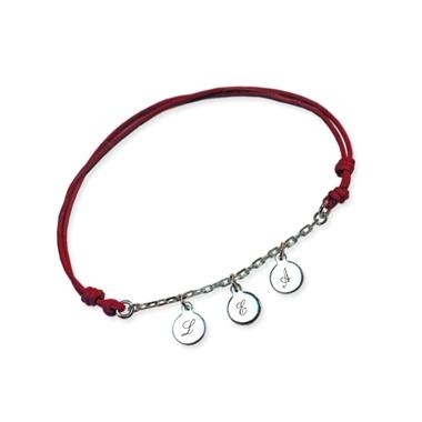 Bracelet 3 mini médailles gravées