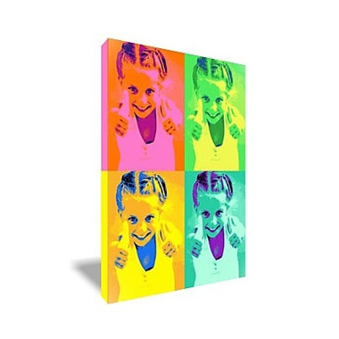 Tableau Pop Art rectangulaire 4 photos