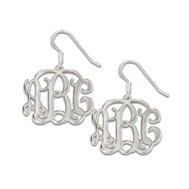 Boucles D'oreilles initiales monogramme