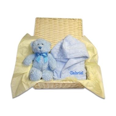 Coffret cadeau enfant peignoir ourson