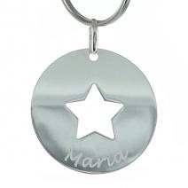 Porte-clés étoile gravé