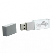 Clé USB en verre gravée