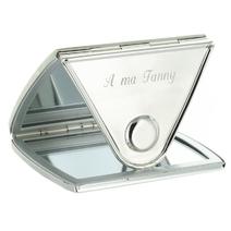 Miroir de poche gravé