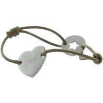Bracelet Saint Valentin gravé