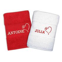 Ensemble de serviettes Saint Valentin