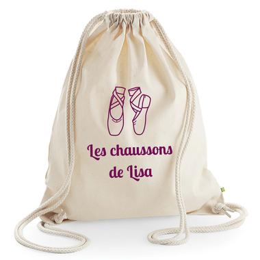 sac dos enfant en coton personnalis avec un pr nom et un motif. Black Bedroom Furniture Sets. Home Design Ideas
