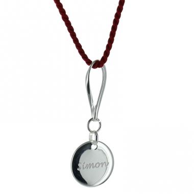 Pendentif Médaille gravée suspendue