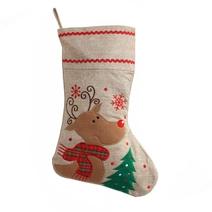 Chaussette de Noël brodée Rennes de Noël