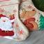 Chaussette de Noël en lin brodée prénom