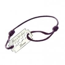 Bracelet lame de rasoir gravée