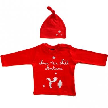 Tee-shirt de Noël et son bonnet