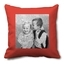 coussin photo rouge