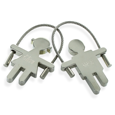 Porte-clés fille/garçon gravé