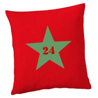 Coussin carré étoile personnalisé