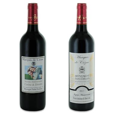 Vin personnalisé - Montagne Saint Emilion