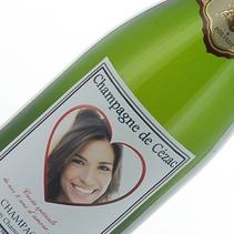 Champagne Fête des Amoureux personnalisé