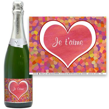 Champagne personnalisé Amoureux
