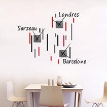 Horloge murale personnalisable Tokyo