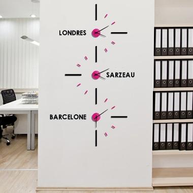 Horloge murale design MIAMI