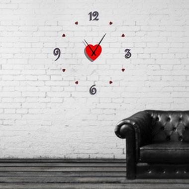 horloge murale en plexiglass personnaliser. Black Bedroom Furniture Sets. Home Design Ideas
