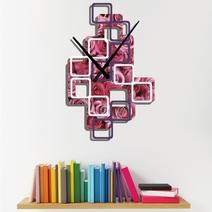 Horloge murale personnalisée avec motifs