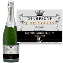 Bouteille de champagne personnalisée