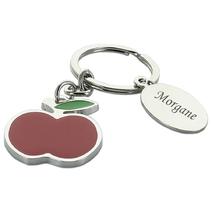 Porte-clés pomme prénom gravé