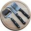 Planche à fromage et ses couteaux