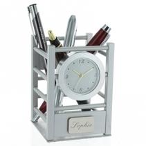 Pot à crayons horloge gravé
