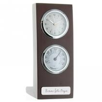 Horloge thermomètre gravé