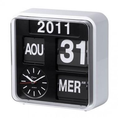 une l gante horloge calendrier style r tro. Black Bedroom Furniture Sets. Home Design Ideas
