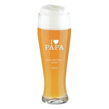 Pinte de bière Meilleur Papa gravée