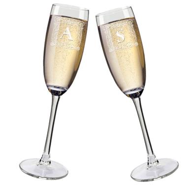 Flûtes À champagne personnalisées initiales