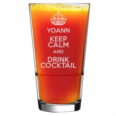 Verre à cocktail prénom personnalisé
