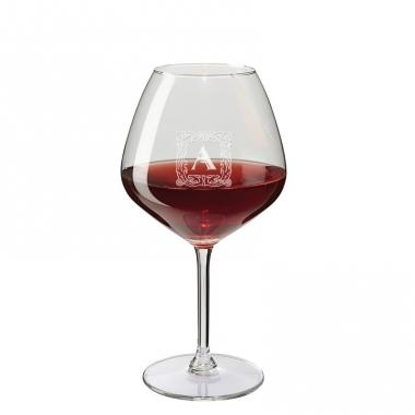 Verre à vin gravé dégustation initiale