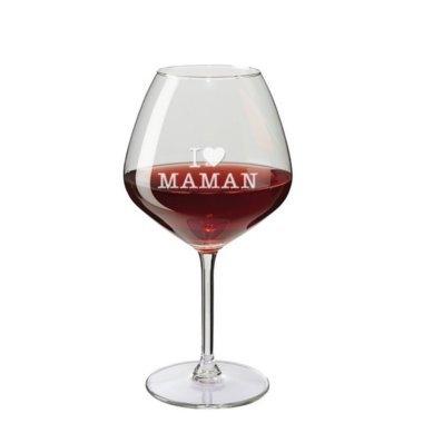 Verre à vin dégustation I love maman