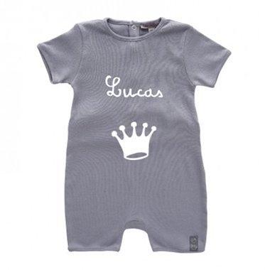 Body bébé gris personnalisé