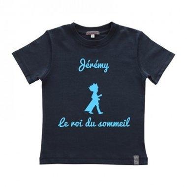 Pyjama personnalisé garçon bleu marine