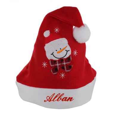 Bonnet de Noël enfant brodé avec un prénom