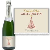Bouteille de champagne de Noël personnalisé