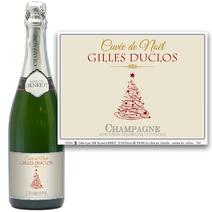 Bouteille de champagne de Noël
