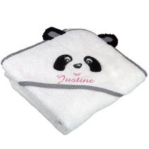 Cape de bain brodée panda