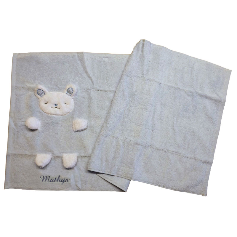 une serviette de bain brod e pour vos enfants la sortie du bain. Black Bedroom Furniture Sets. Home Design Ideas