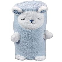 Serviette de bain mouton brodée pliée