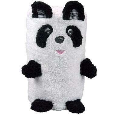 Serviette de bain panda brodée pliée