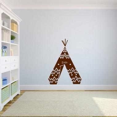sticker tipi indien personnalis. Black Bedroom Furniture Sets. Home Design Ideas
