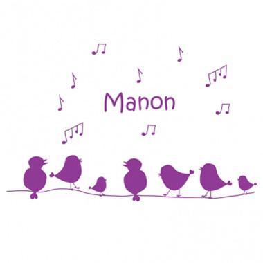 Stickers personnalisés oiseaux chanteurs