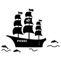 Stickers personnalisés bateau de pirate